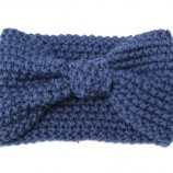 1-PC-Femmes-Lady-Crochet-Bow-Noeud-Turban-Tricoté-Head-Wrap-Bandeau-Hiver-Ear-Warmer-Bandeau
